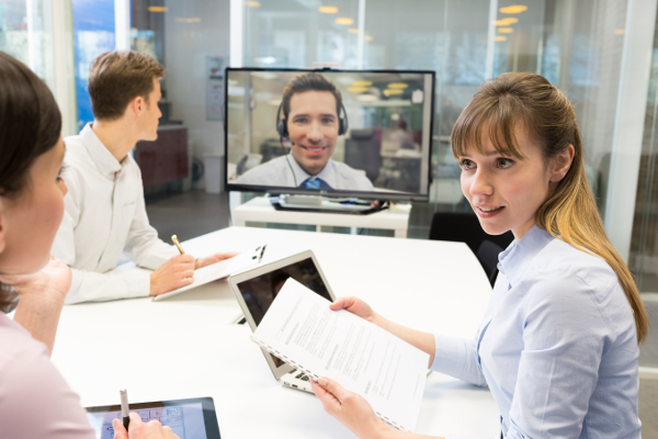 Video meeting using H323 system